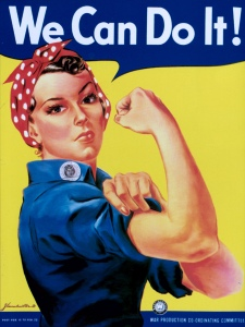 Rosie the Riveter is a cultural icon of the United States, representing the American women who worked in factories and shipyards during World War II, many of whom produced munitions and war supplies.